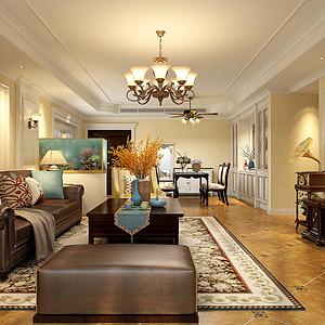 兰州众润家园140平米美式风格客厅