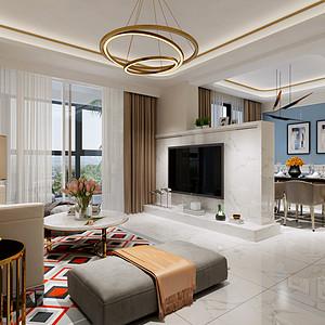 富通城  地中海风格 140平米 三房两厅 装修效果图