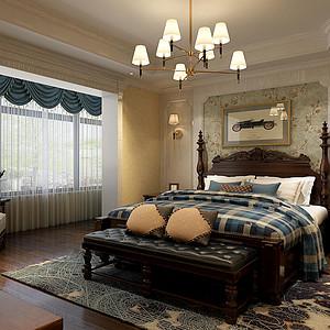 兰州众润家园140平米美式风格卧室