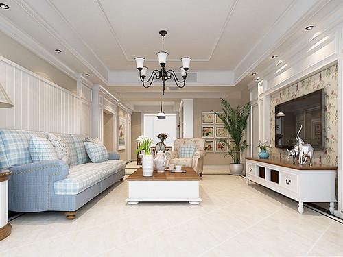 保利达江湾城164平法式风格案例装修设计理念