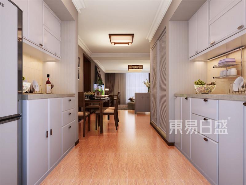 华馨公寓现代简约风格厨房装修效果图