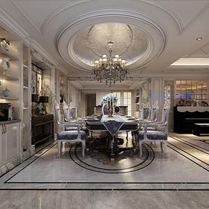 法式风格 餐厅装修效果图 别墅装饰