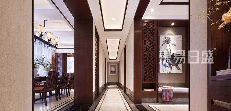 新中式风格走廊装修效果图_玄关效果图大全2018图片