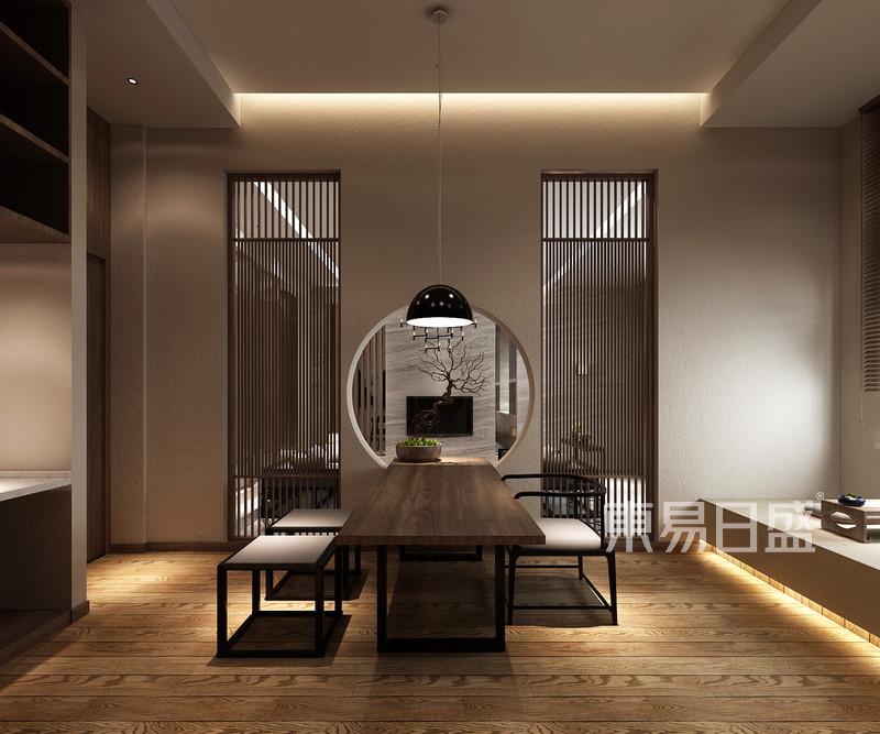 新中式 - 大华公园世家新中式茶室设计效果图