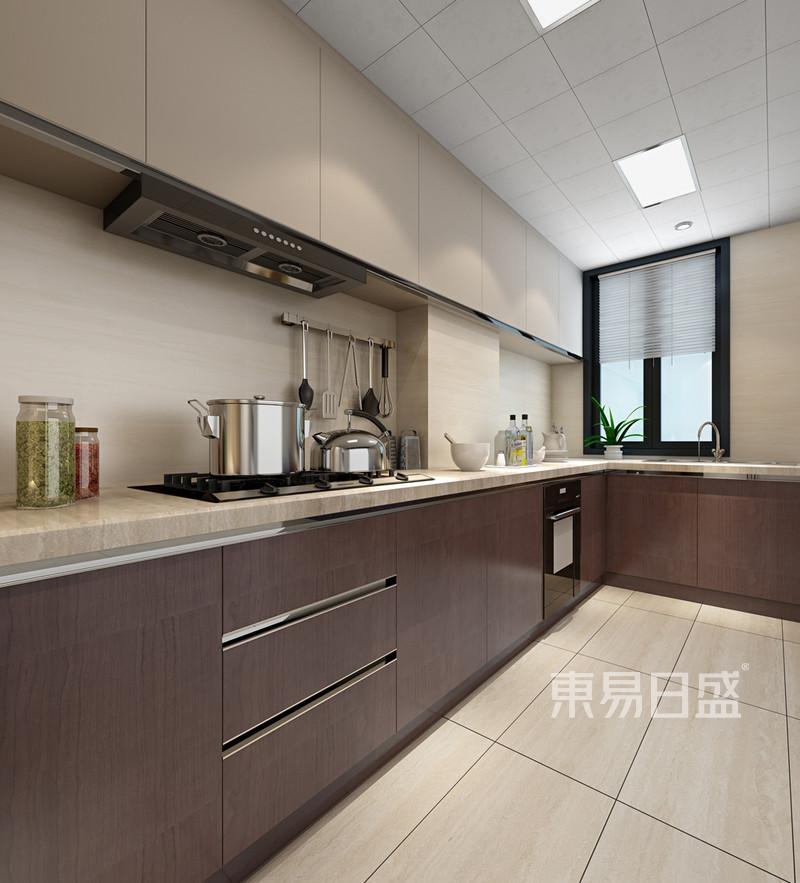 新中式 - 杭州公馆139㎡现代中式风厨房效果图