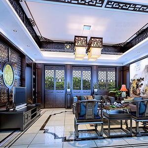 中国院子古典中式别墅装修效果图
