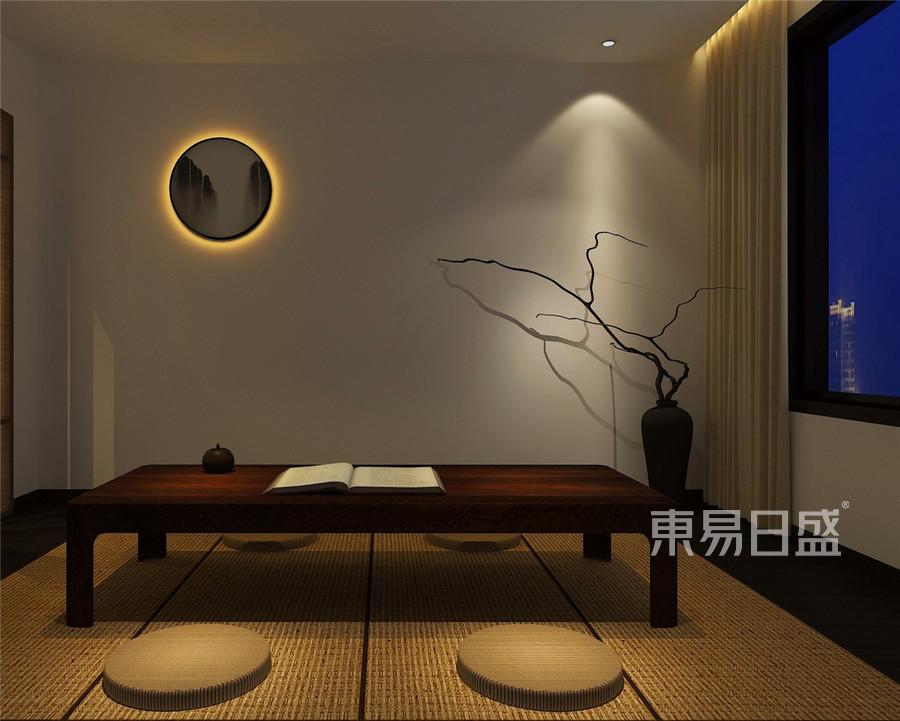 檀府新中式风格二楼禅修室装修效果图