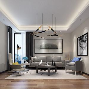 2F休闲厅以简洁和纯净来调节转换精神