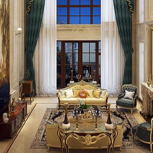 蓝岸丽舍-欧式古典-870㎡-获奖设计案例