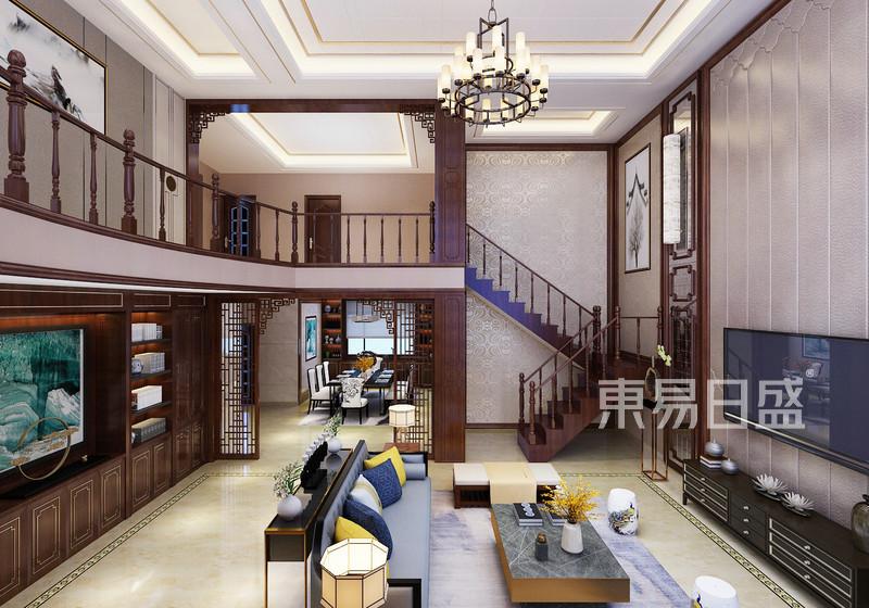 新中式 - 自建别墅新中式风格客厅装修效果图