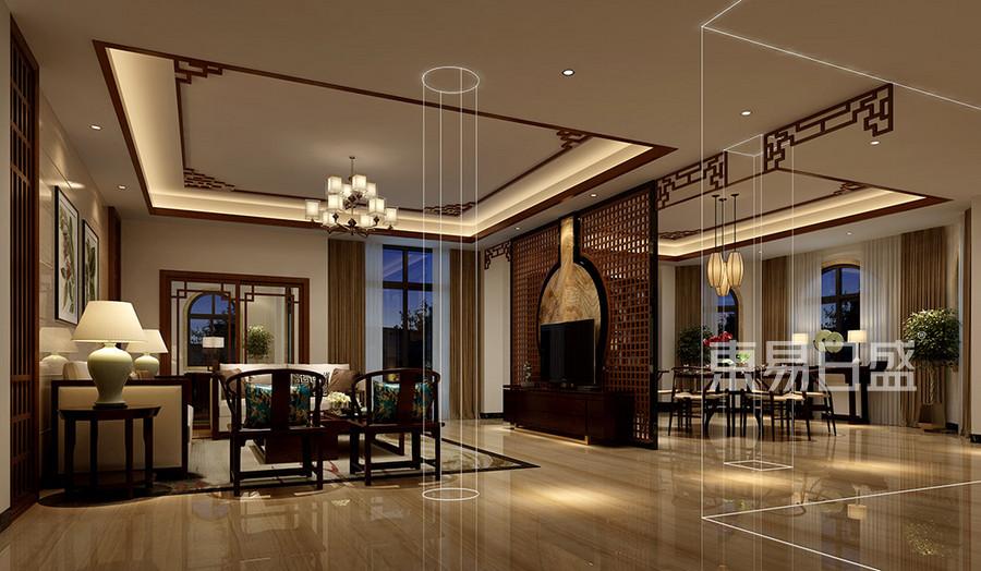 中堂自建房中式客厅装修效果图