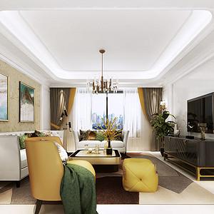 客厅简洁出挑的家具,清雅含蓄
