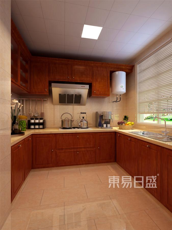 路劲太阳城现代简约风格厨房装修效果图