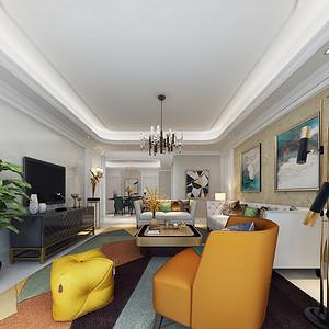 客厅舒适的家具以其自然