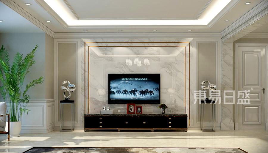 轻奢主义风格客厅装修效果图