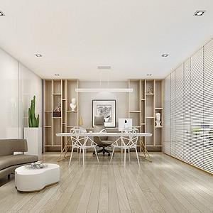 樟木头办公室装修效果图-1500㎡现代极简装修案例