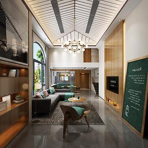 东坑碧桂园装修案例-270㎡现代风格联排别墅装修效果图