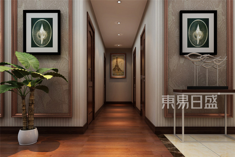 路劲太阳城现代简约风格走廊装修效果图