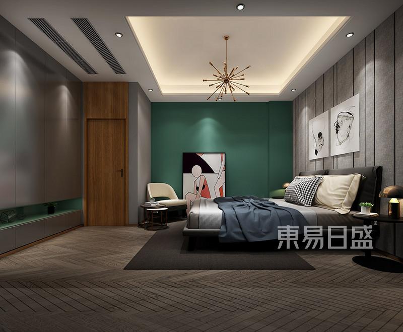 东坑碧桂园别墅现代极简卧室装修效果图