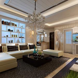 工商银行 简约风格装修效果图 三室两厅