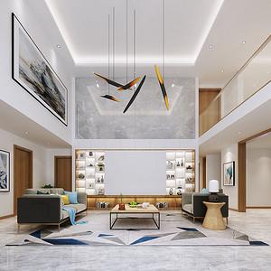 客厅层高高度使空间极大的拉伸