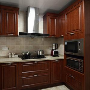 现代美式厨房实景图