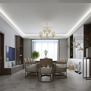 龙之梦现代简约风格139平米三居室