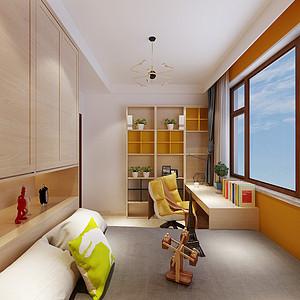自建别墅新中式风格女儿房装修效果图
