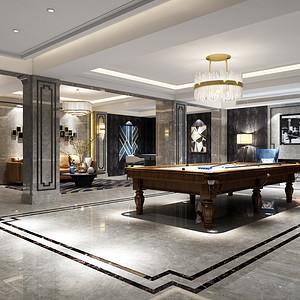 湖畔林语550法式新古典娱乐室效果图