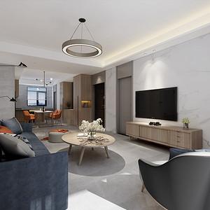 幸福滨水家园现代简约风格140㎡三室两厅一厨两卫