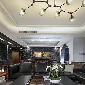 广电兰亭珑俯会所新中式风格220平米