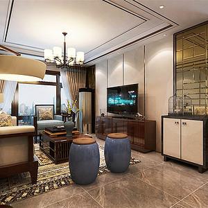 华富家园-现代新中式-108平米