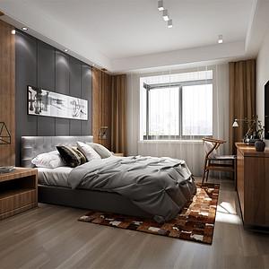 雅居乐滨江国际135㎡北欧风格卧室