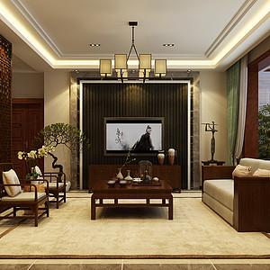 豪门府邸-180平-现代中式风格装修案例