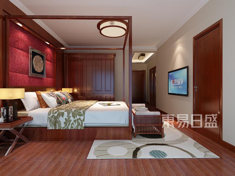 中锐尚城花园新中式卧室