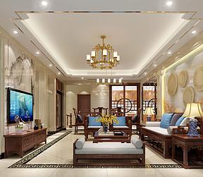 江畔名城复式简中客厅装修效果图