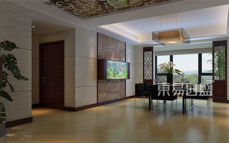 大都会现代中式风格餐厅装修效果图