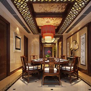 东湖明珠花园新中式风格餐厅
