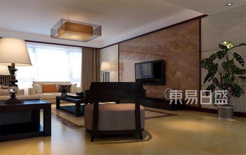 大都会现代中式风格客厅装修效果图
