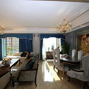 信和御龙山150㎡四居室美式风格案例实景图