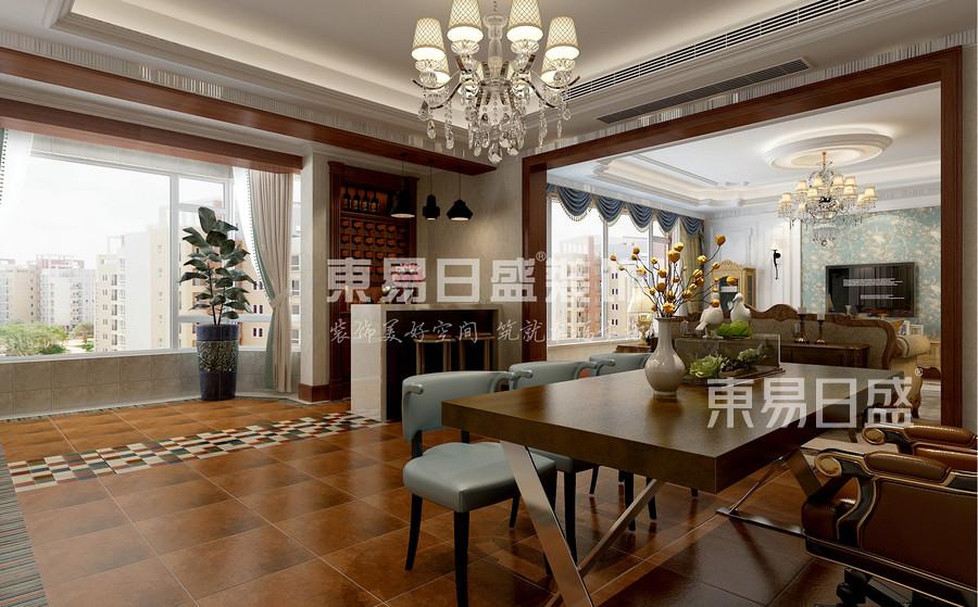 欧式风格-会客厅-装修效果图