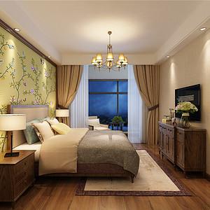 泰达国际会馆中式风格卧室装修效果图