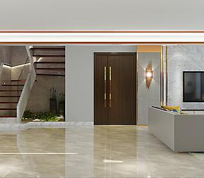 佛山南海复式楼现代轻奢客厅装修效果图