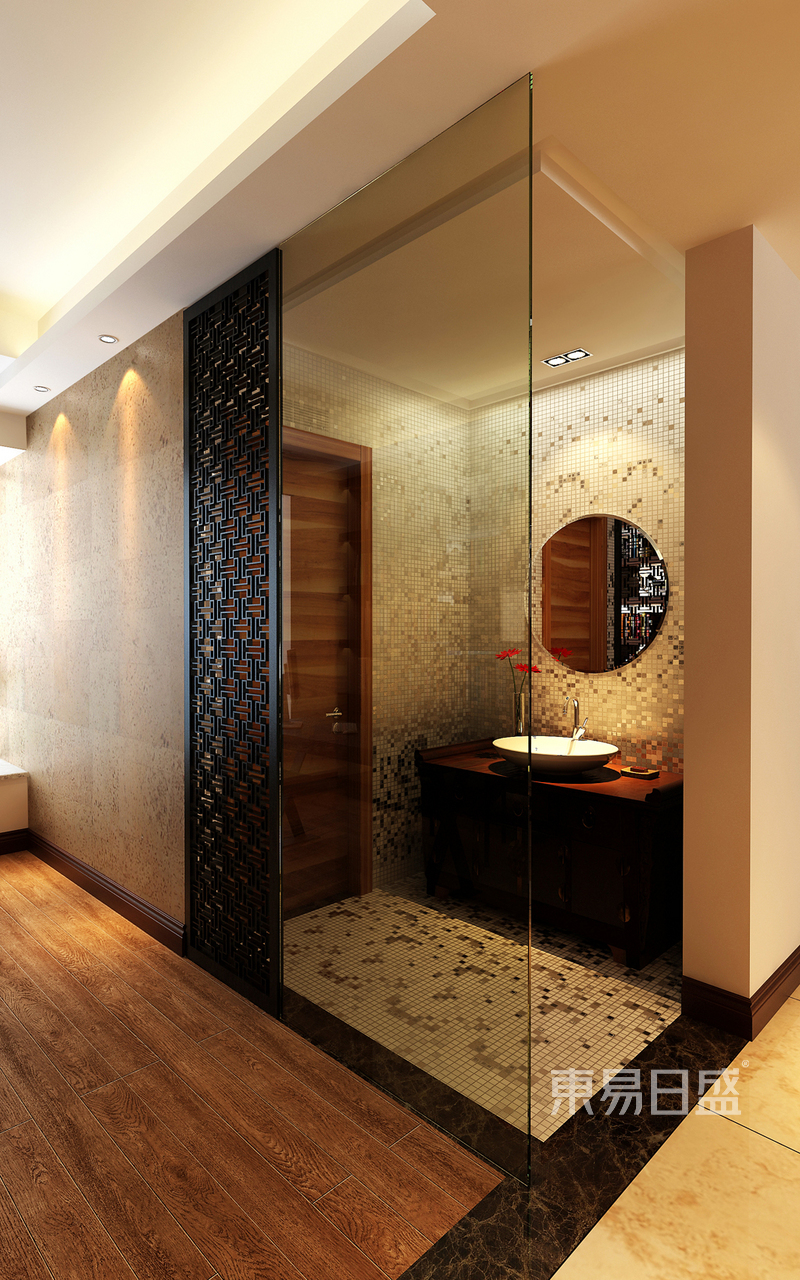 其他- 现代中式洗手间效果图