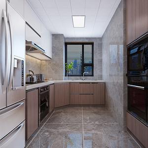 四居室-现代港式-厨房-效果图