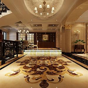 新中式风格 客厅装修效果图 别墅装饰