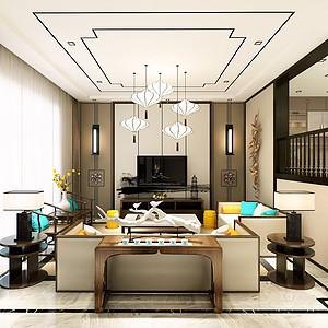 天润尚院330平米新中式风格装修效果图