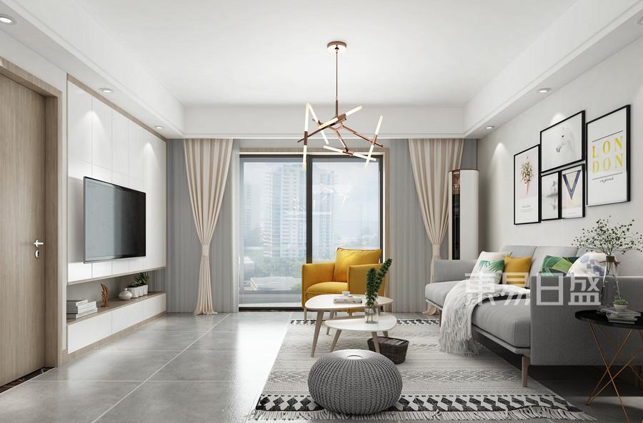 北欧风格客厅装修设计效果图_2018装修案例图片-装饰