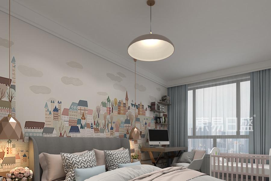现代摩卡风格儿童房装修设计