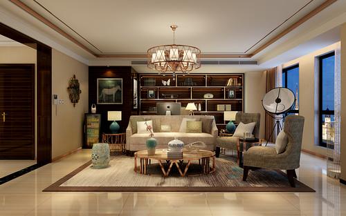 天山新公爵230平五室二厅现代前卫风格装修案例